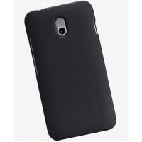Пластиковый матовый нескользящий премиум чехол для HTC Desire 210 Черный