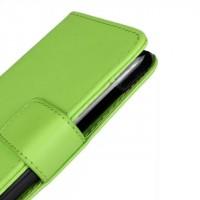 Чехол портмоне подставка с защелкой для HTC Desire 210 Зеленый