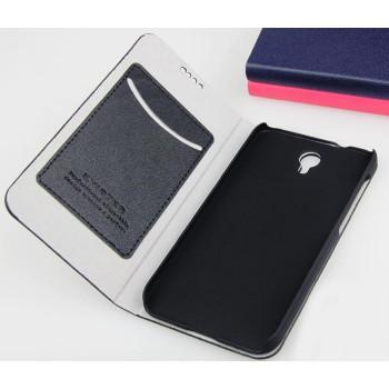 Текстурный чехол флип подставка с отделениями для Alcatel One Touch Idol 2