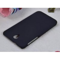 Пластиковый матовый металлик чехол для Alcatel One Touch Idol 2 Черный