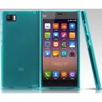 Силиконовый матовый полупрозрачный чехол для Xiaomi MI3 Зеленый