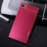 Пластиковый чехол с металлическим внешним слоем для Xiaomi MI3 Красный