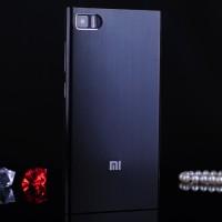 Пластиковый металлик чехол для Xiaomi MI3 Черный