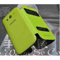Чехол смарт-флип с окном вызова и свайпом для Samsung Galaxy Grand Neo Зеленый