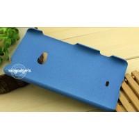 Пластиковый матовый анти-скретч чехол для Nokia Lumia 625 Синий