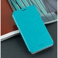 Чехол флип подставка водоотталкивающий для Samsung Galaxy Core 2 Голубой