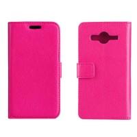 Чехол портмоне подставка с защелкой для Samsung Galaxy Core 2 Пурпурный