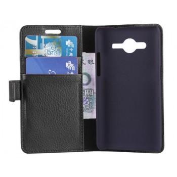 Чехол портмоне подставка с защелкой для Samsung Galaxy Core 2