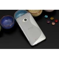 Силиконовый S чехол для HTC One (М7) Dual SIM Белый