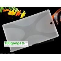 Силиконовый матовый X чехол для Sony Xperia Z3 Tablet Compact Белый