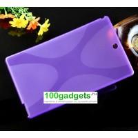 Силиконовый матовый X чехол для Sony Xperia Z3 Tablet Compact Фиолетовый