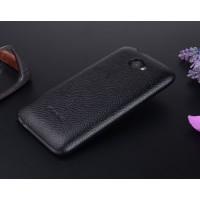 Чехол кожаная накладка для HTC Desire 601 Черный