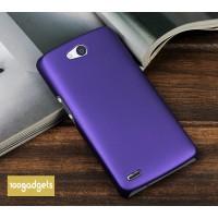 Пластиковый матовый металлик чехол для Philips W8510 Xenium Фиолетовый