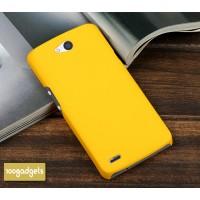 Пластиковый матовый металлик чехол для Philips W8510 Xenium Желтый