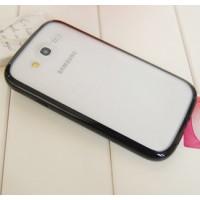 Силиконовый чехол с полупрозрачной матовой пластиковой накладкой для Samsung Galaxy Grand / Grand Neo Черный