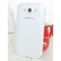 Силиконовый чехол с полупрозрачной матовой пластиковой накладкой для Samsung Galaxy Grand / Grand Neo Белый