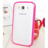 Силиконовый чехол с полупрозрачной матовой пластиковой накладкой для Samsung Galaxy Grand / Grand Neo Пурпурный