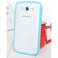 Силиконовый чехол с полупрозрачной матовой пластиковой накладкой для Samsung Galaxy Grand / Grand Neo