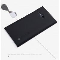 Пластиковый матовый нескользящий премиум чехол для Nokia Lumia 730/735 Черный