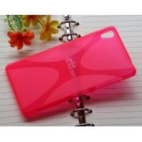 Силиконовый X чехол для Sony Xperia Z3 Розовый