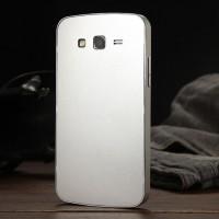 Металлический сверхлегкий чехол для Samsung Galaxy Grand 2 Duos Белый