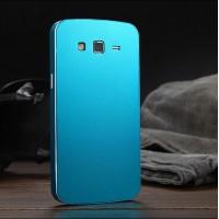 Металлический сверхлегкий чехол для Samsung Galaxy Grand 2 Duos Голубой