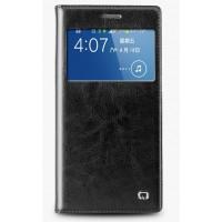 Кожаный встраиваемый смарт флип чехол с окном вызова для Samsung Galaxy Grand 2 Duos Черный