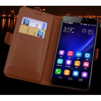 Кожаный чехол горизонтальная книжка (нат. кожа) с крепежной застежкой для Xiaomi Mi4