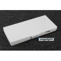 Чехол книжка подставка на прозрачной пластиковой основе для Fly IQ4503 Era Life 6 Белый