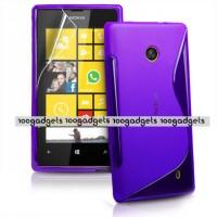 Силиконовый S чехол для Nokia Lumia 520 Фиолетовый