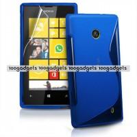 Силиконовый S чехол для Nokia Lumia 520 Синий