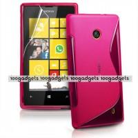 Силиконовый S чехол для Nokia Lumia 520 Пурпурный