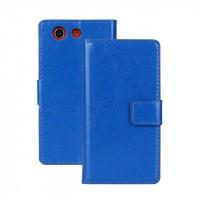 Чехол портмоне подставка с защелкой глянцевый для Sony Xperia Z3 Compact Синий