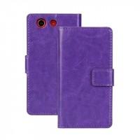 Чехол портмоне подставка с защелкой глянцевый для Sony Xperia Z3 Compact Фиолетовый
