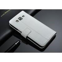 Чехол портмоне-подставка с магнитной застежкой назад для Samsung Galaxy Grand 2 Duos Белый