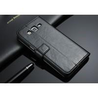 Чехол портмоне-подставка с магнитной застежкой назад для Samsung Galaxy Grand 2 Duos Черный