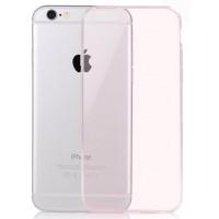 Ультратонкий чехол-накладка с полупрозрачным основанием для Iphone 6 Розовый