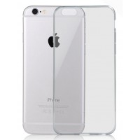 Ультратонкий чехол-накладка с полупрозрачным основанием для Iphone 6 Черный