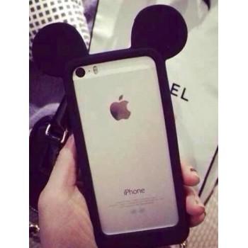 Силиконовый дизайнерский фигурный чехол c 3d-ушами  для Iphone 6