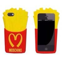 Силиконовый дизайнерский фигурный чехол Moschino для Iphone 6 Plus
