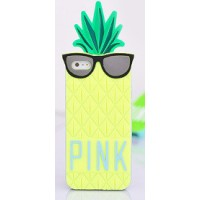 Силиконовый дизайнерский фигурный чехол ананас для Iphone 6