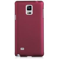 Пластиковый матовый грязестойкий чехол Металлик для Samsung Galaxy Note 4 Бордовый