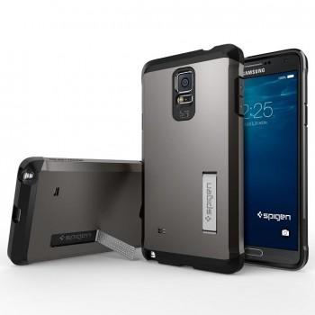 Силиконовый премиум чехол-подставка с поликарбонатной крышкой для Samsung Galaxy Note 4