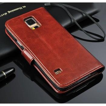 Чехол портмоне подставка с защелкой для Samsung Galaxy Note 4