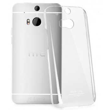 Пластиковый транспарентный чехол для HTC One (M8)