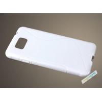 Силиконовый S чехол для Samsung Galaxy Alpha Белый
