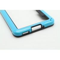 Силиконовый бампер для Samsung Galaxy Alpha Голубой