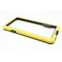 Силиконовый бампер для Samsung Galaxy Alpha Желтый