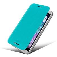 Чехол флип подставка водоотталкивающий для HTC One (M8) Голубой