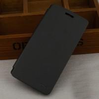 Тонкий чехол флип на пластиковой основе для Lenovo A536 Черный
